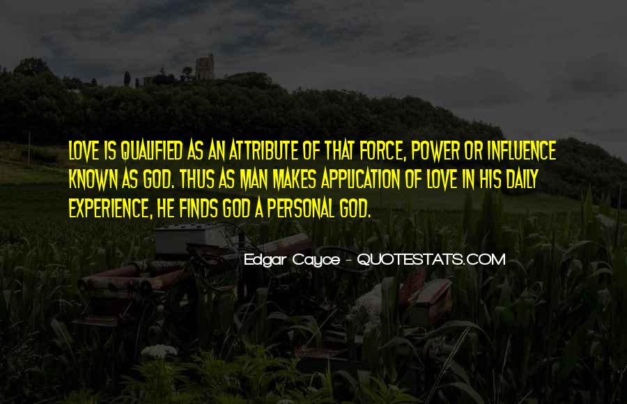 Power Of God Love Quotes #1010061