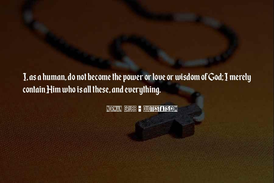 Power Of God Love Quotes #362370
