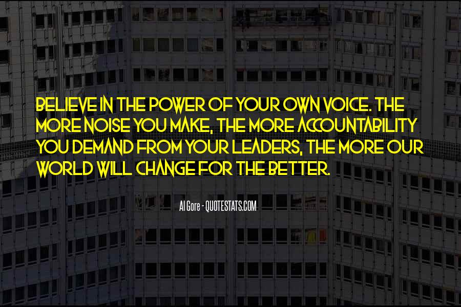 Power To Make A Change Quotes #107113