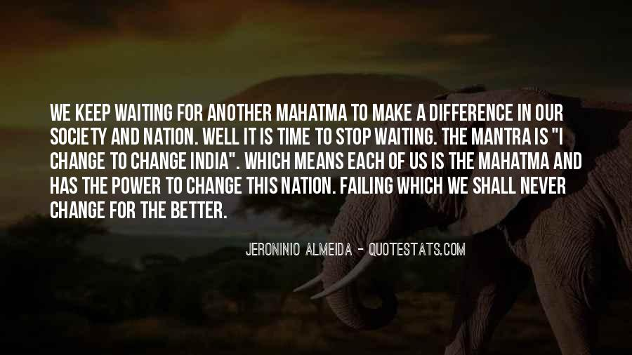 Power To Make A Change Quotes #183498