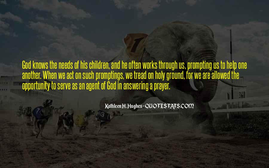 Prayer Answering God Quotes #1048790