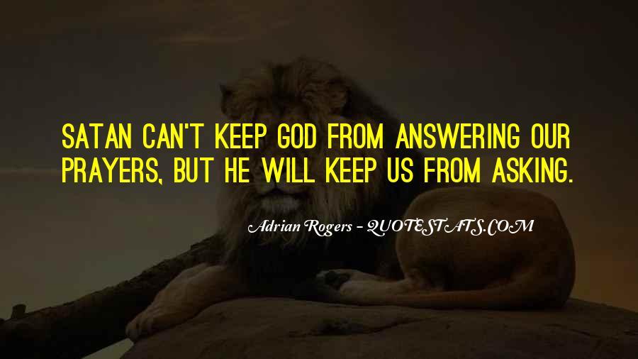 Prayer Answering God Quotes #1809072