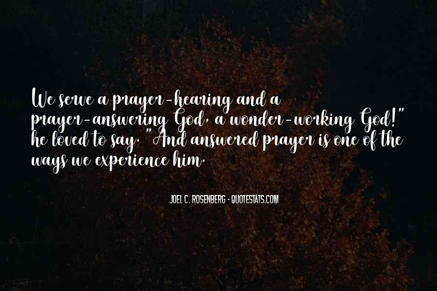 Prayer Answering God Quotes #375717