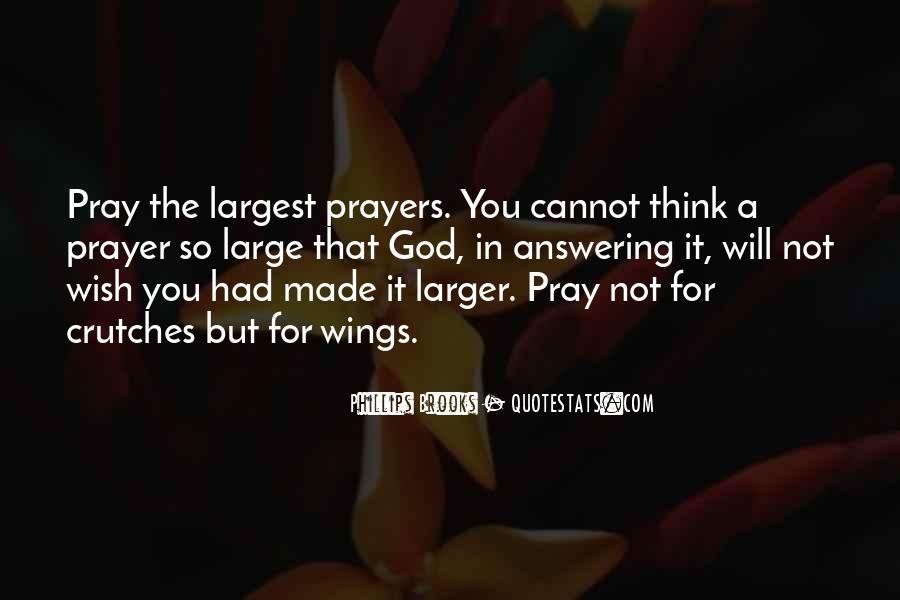Prayer Answering God Quotes #493967