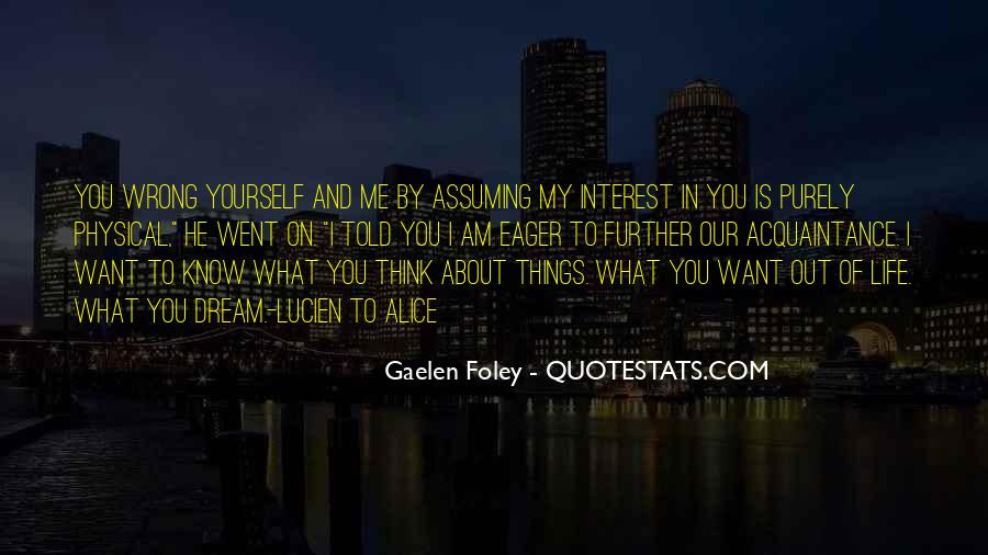 Quotes About Assuming Things #103929