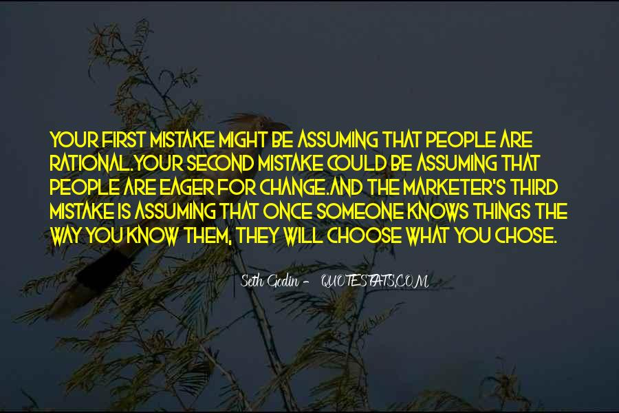Quotes About Assuming Things #20147