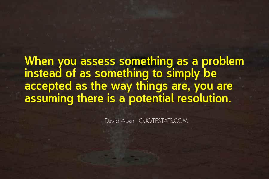 Quotes About Assuming Things #241781