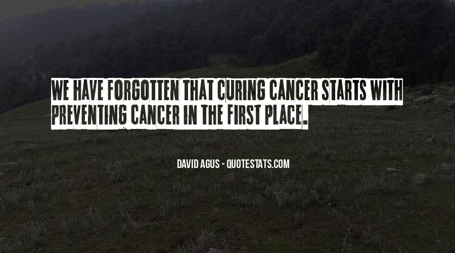 Preventing Cancer Quotes #123214