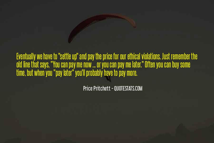 Price We Pay Quotes #562105