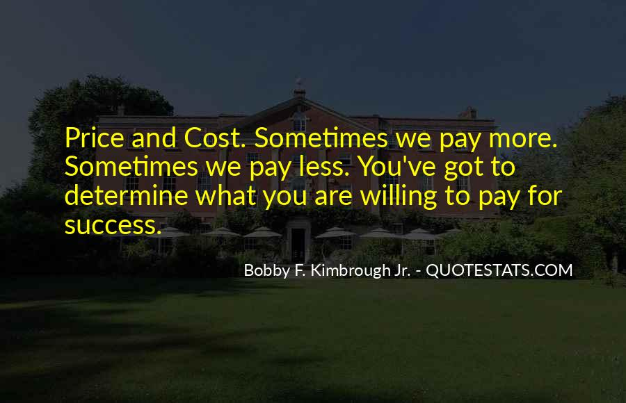 Price We Pay Quotes #5787