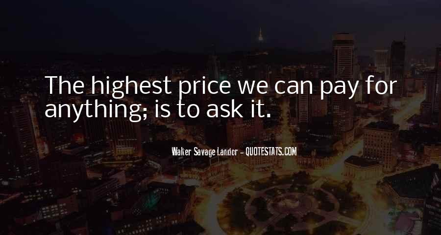 Price We Pay Quotes #917602