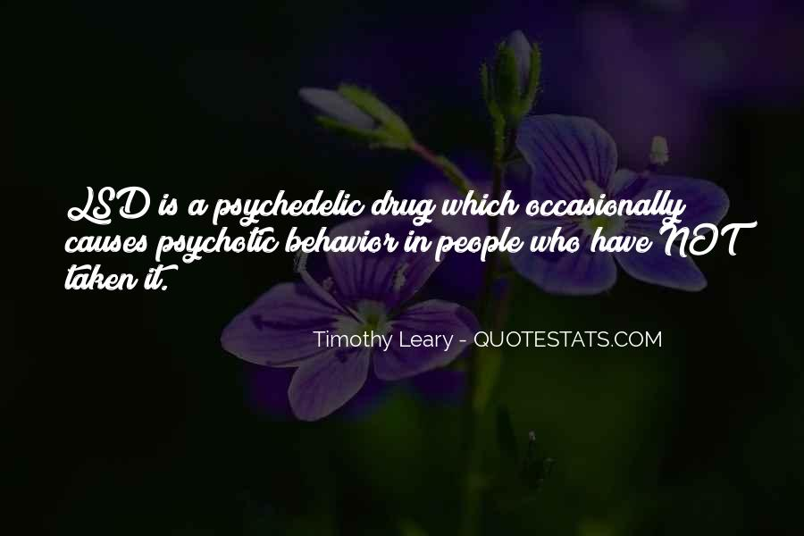 Quotes About Timothy Leary #268676