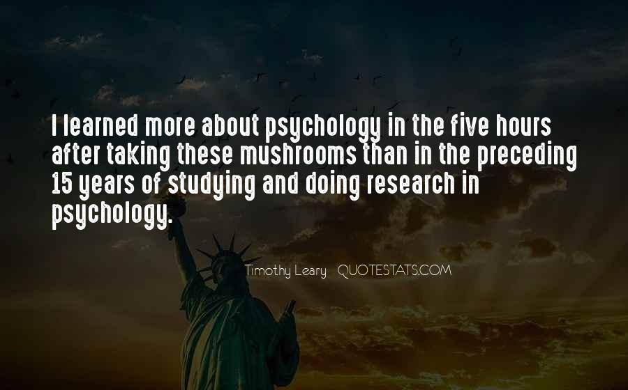 Quotes About Timothy Leary #969168