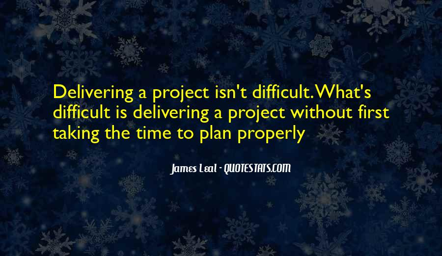Project Plan Quotes #7689