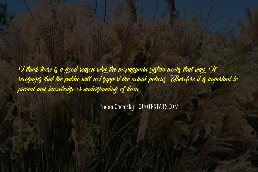 Propaganda Noam Chomsky Quotes #1383122