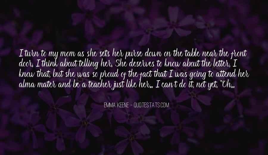Proud Of Mom Quotes #509293