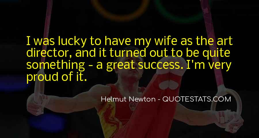 Proud Of My Wife Quotes #114716