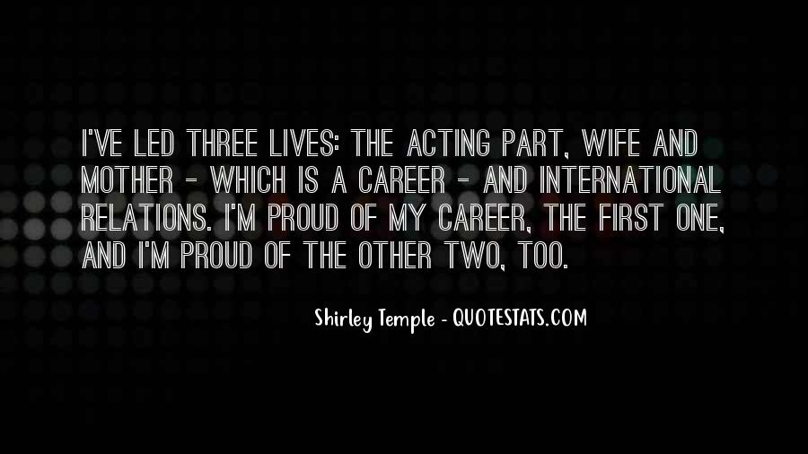 Proud Of My Wife Quotes #573371