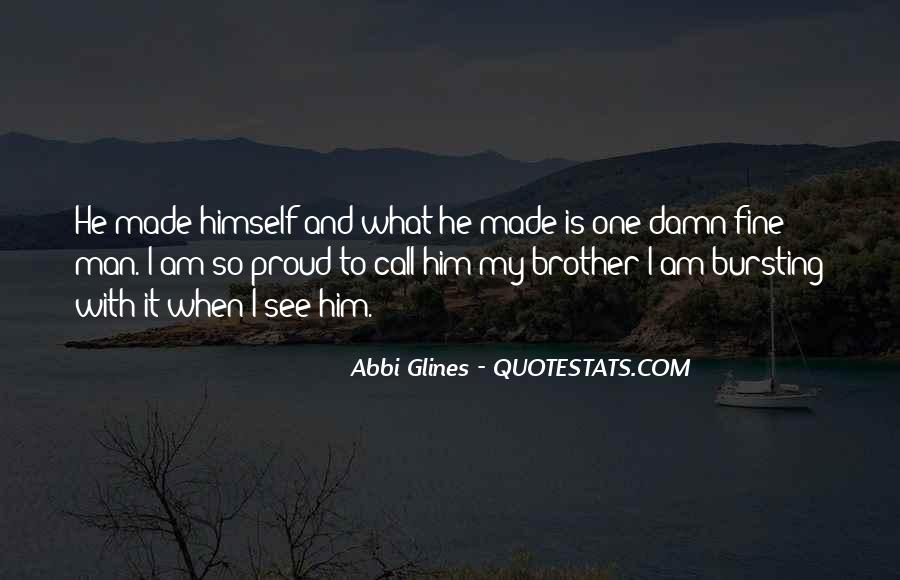 Proud Of You Brother Quotes #869752