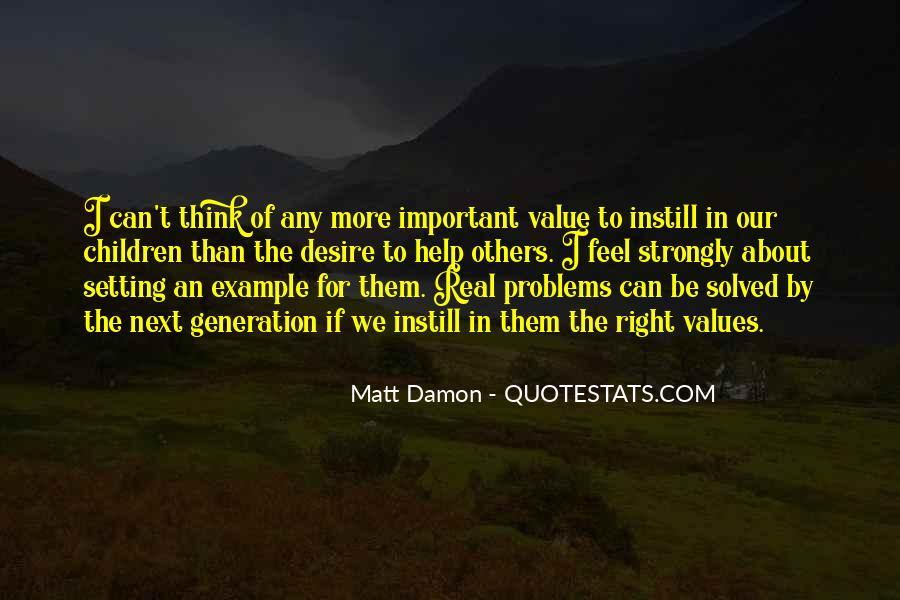 Quotes About Matt Damon #157932