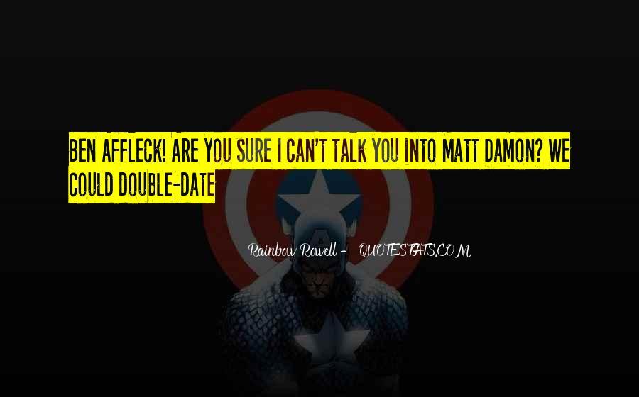 Quotes About Matt Damon #25216