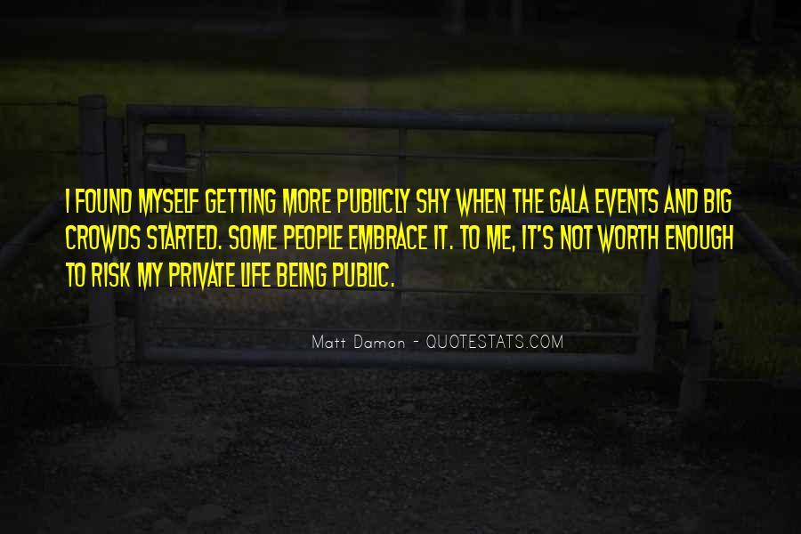 Quotes About Matt Damon #442552