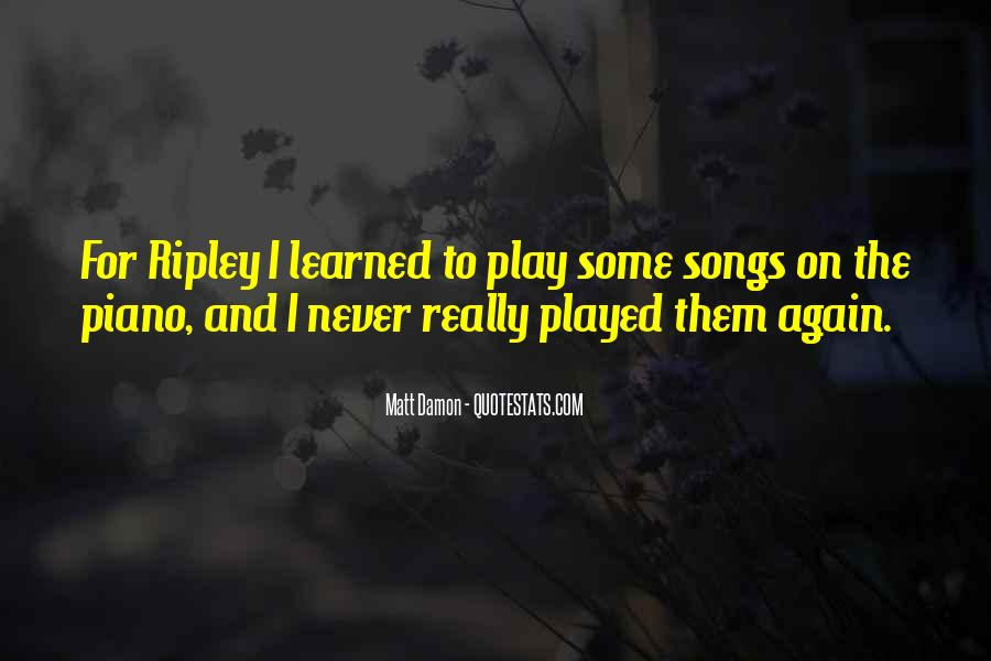 Quotes About Matt Damon #524310