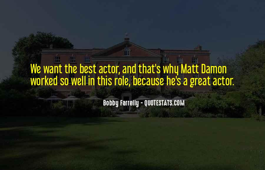 Quotes About Matt Damon #599280