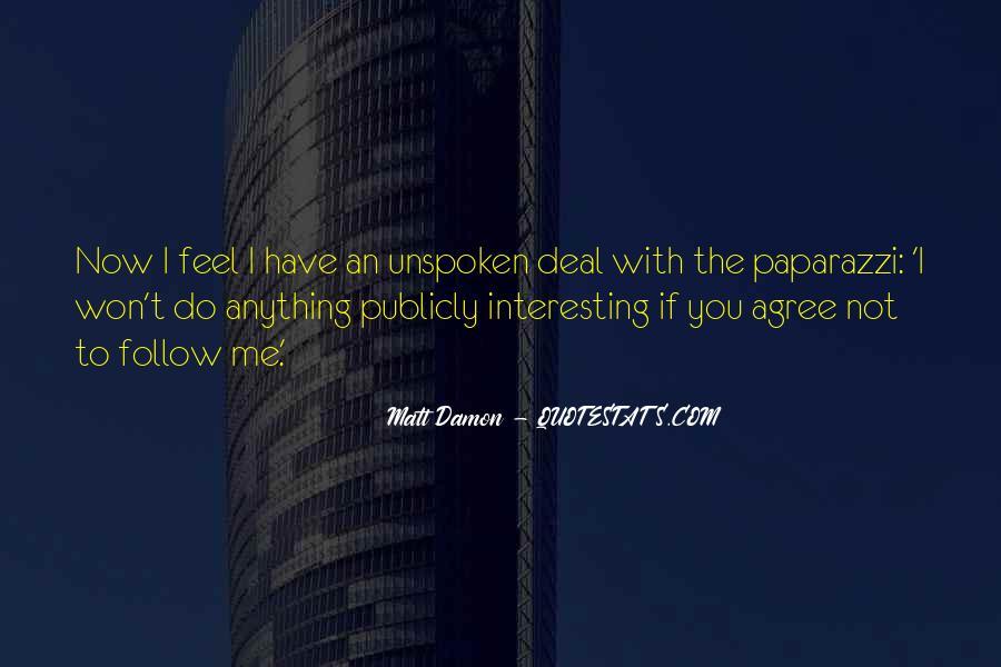 Quotes About Matt Damon #699936