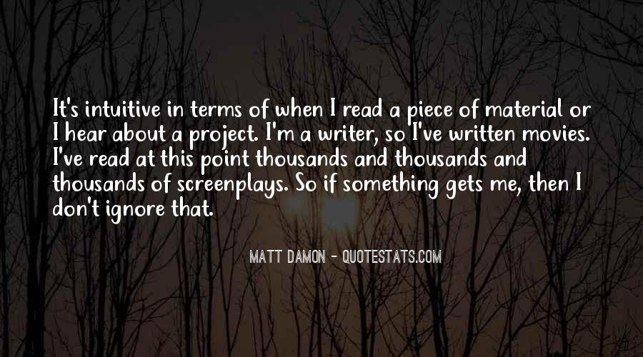 Quotes About Matt Damon #724253