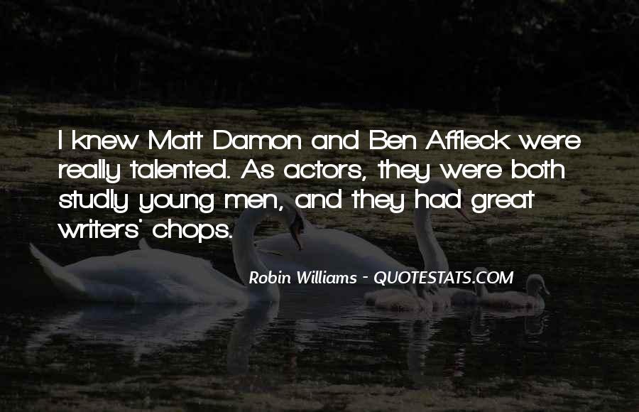Quotes About Matt Damon #864849
