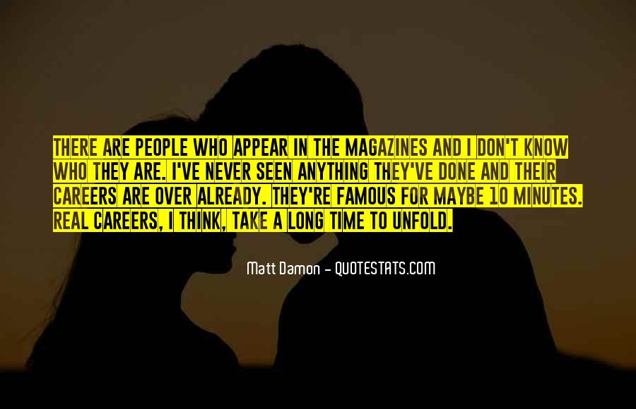 Quotes About Matt Damon #953266
