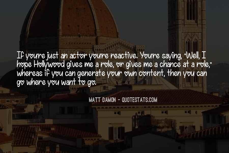 Quotes About Matt Damon #97415