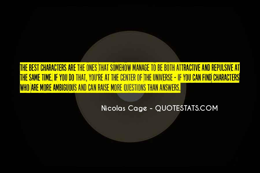 Quotes About Nicolas Cage #772875