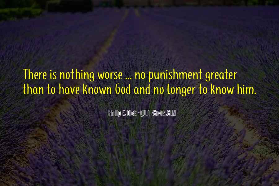 Punishment From God Quotes #101106