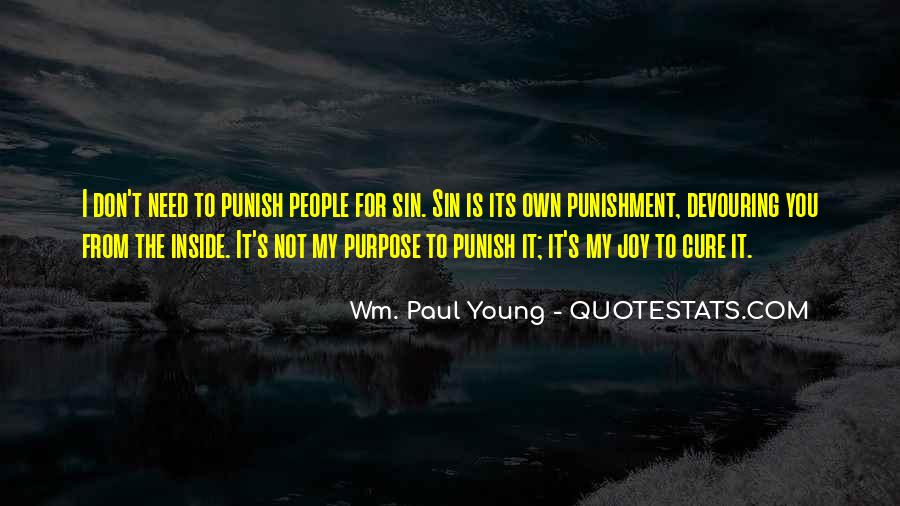 Punishment From God Quotes #1100796