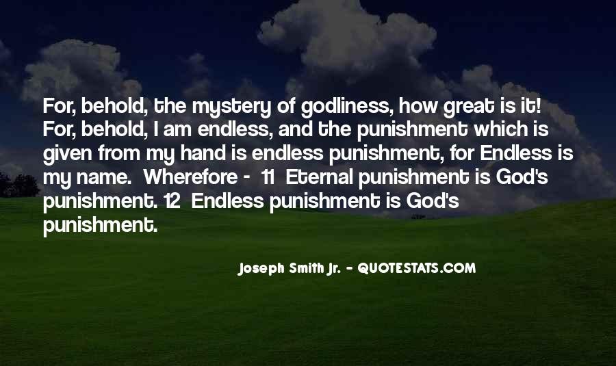 Punishment From God Quotes #1751747