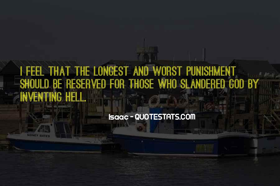 Punishment From God Quotes #197312