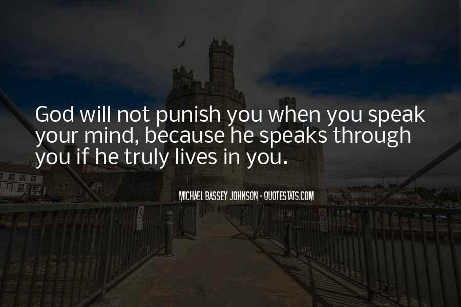 Punishment From God Quotes #203209
