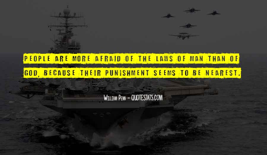 Punishment From God Quotes #396760