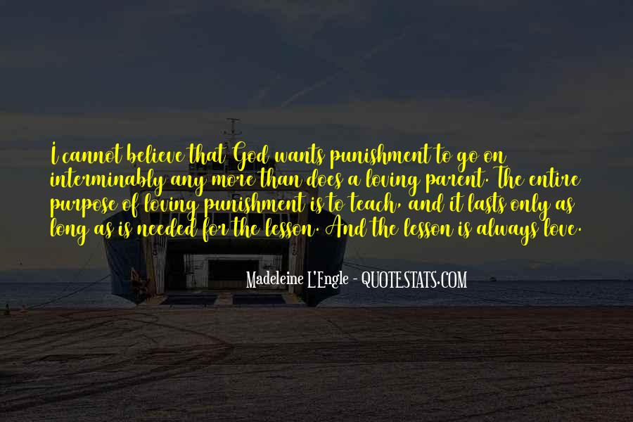 Punishment From God Quotes #414658