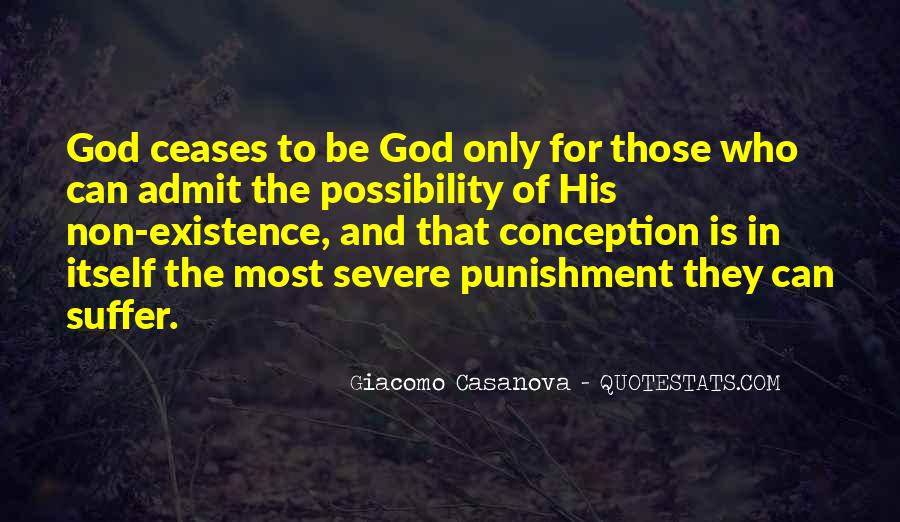 Punishment From God Quotes #448458