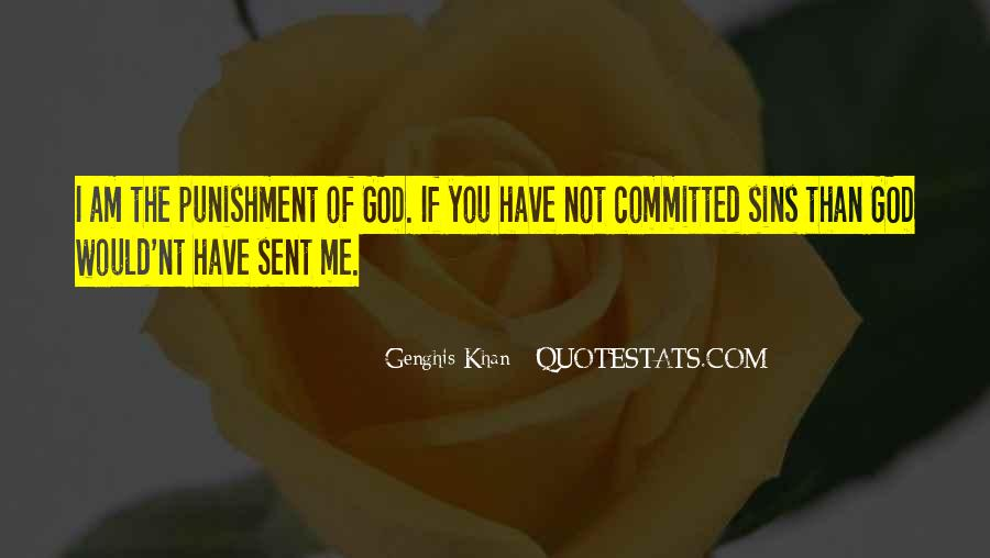 Punishment From God Quotes #529002