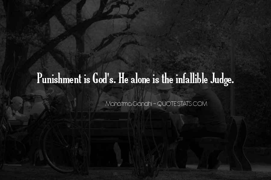 Punishment From God Quotes #537581