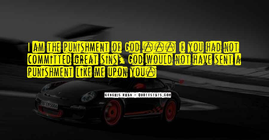 Punishment From God Quotes #665700