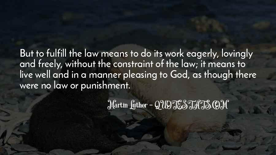 Punishment From God Quotes #858971