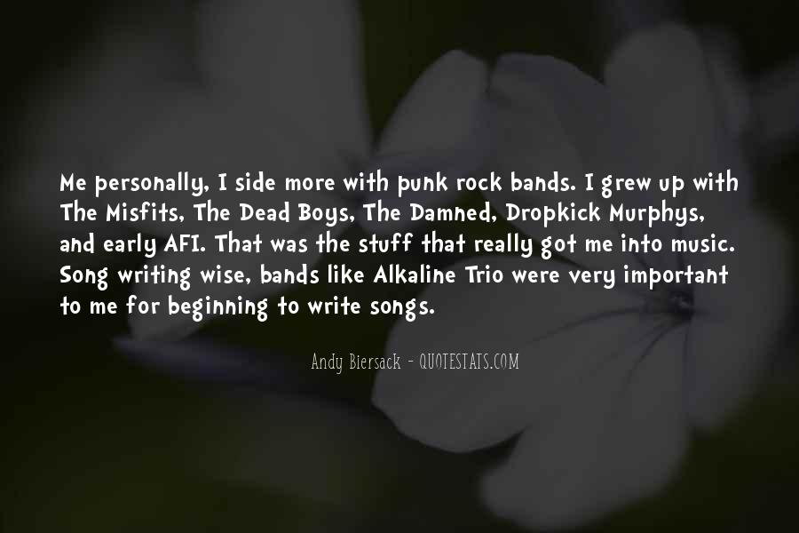 Punk Rock Song Quotes #45893