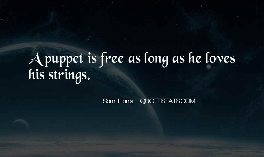 Puppet On Strings Quotes #816975