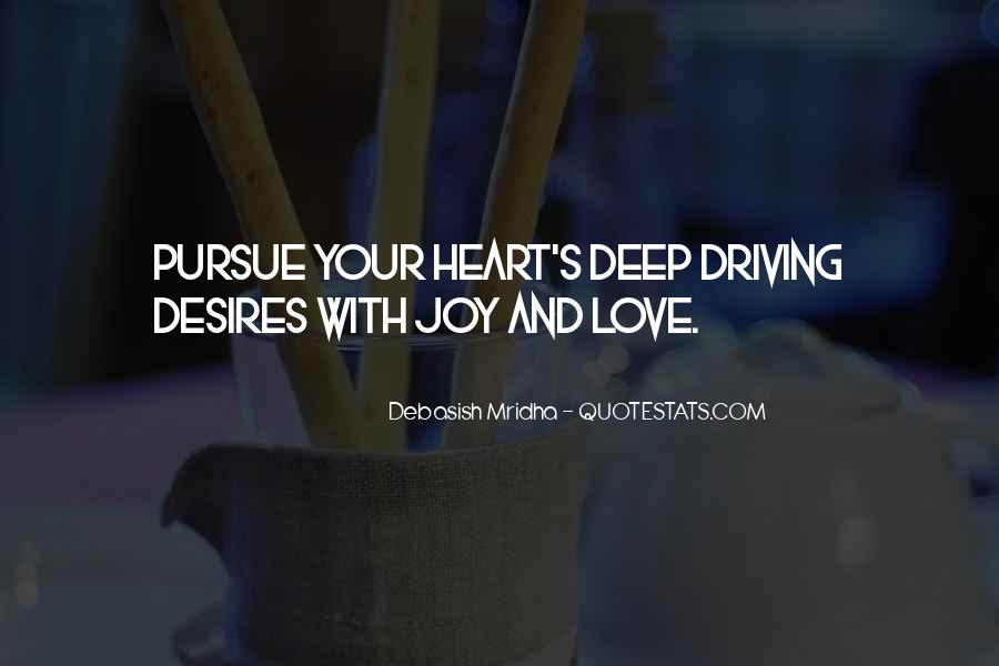 Pursue Love Quotes #1363797