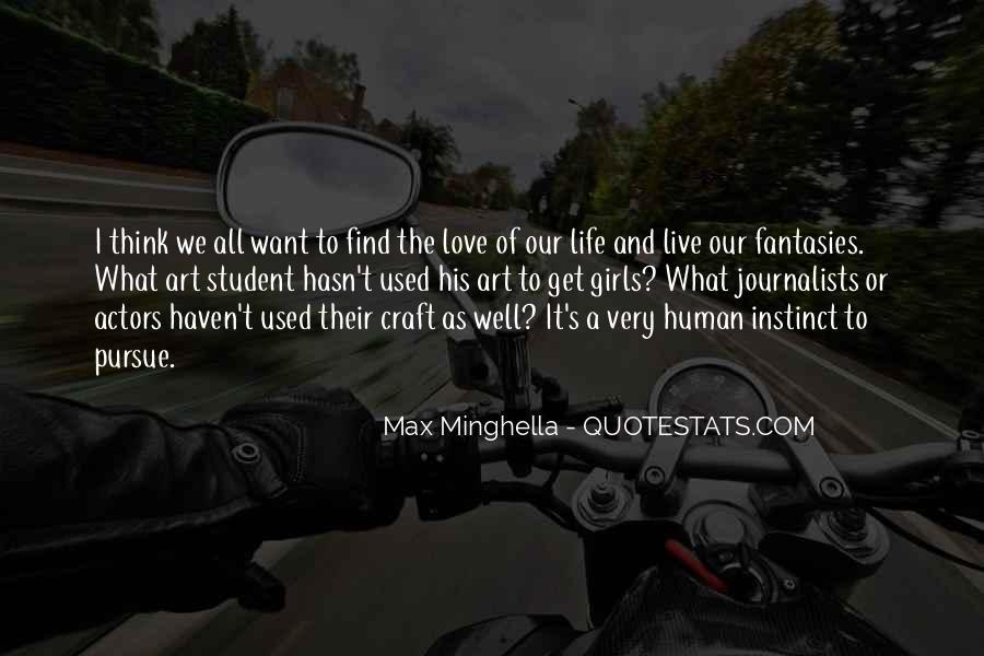 Pursue Love Quotes #1368603